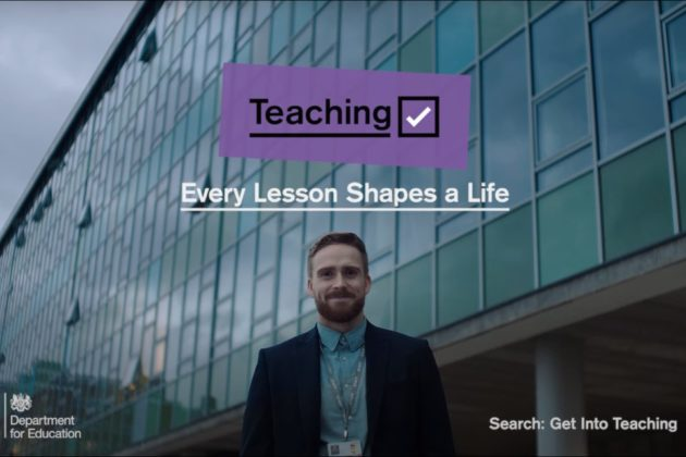 'Get into Teaching' campaign poster.